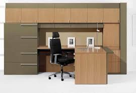 bureau et rangement bureau en stratifié contemporain professionnel avec rangement