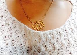 Gold Personalized Name Necklace Jewels Name Monogram My Own Brand Gold Necklace Cute