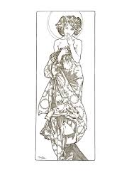 website inspiration alphonse mucha coloring pages at best all