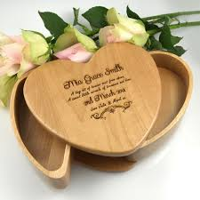 engraved box engraved heart keepsake jewellery box gift for the to be