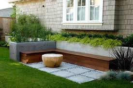 Backyard Bench Ideas Stylish Outdoor Bench Seating Ideas Need Storage And Pertaining To
