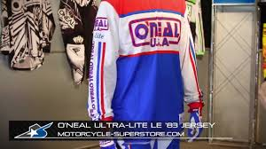 oneal motocross jersey o u0027neal racing ultra lite le u002783 jersey from motorcycle superstore