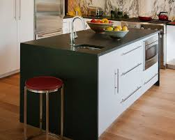 incredible kitchen island made from cabinets also custom black