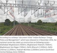 indian railways to set up additional 8 500 km of transmission