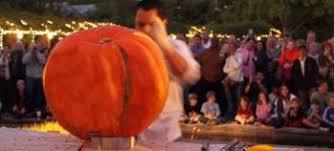 A Chef Slicing A Pumpkin by Great Pumpkin Carving Contest At Atlanta Botanical Garden