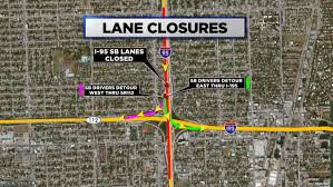 I 95 Map I 95 Southbound Lanes Closure Postponed Due To Weather Cbs Miami