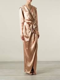 Draped Gown Belted Draped Gown Farfetch Com