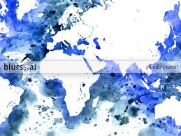Watercolor Map Of The World by Cobalt Blue Watercolor World Map In Distressed Strokes U2013 Blursbyai