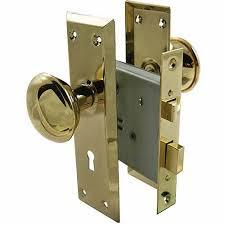 Interior Door Latch Hardware Ultra 44609 2 1 4 Brass Time Mortise Interior Door Lock Set