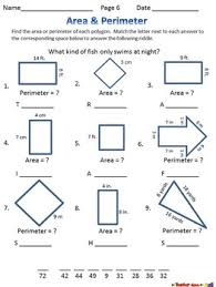 area and perimeter 6 no prep worksheets w riddles tpt