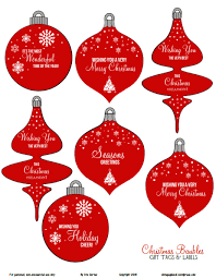 free printable ornaments gift tags gift