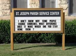 45 church signs that will you laughing all the way home from