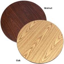 42 round laminate table top oak street ow42r oak walnut 42 round table top double side