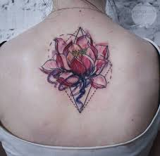 geometric flower tattoos