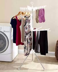 clothes rack laundry hang dry space saver portable compact hanging