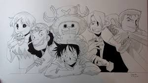 monkey d luffy u0027s crew one piece characters speed drawing youtube