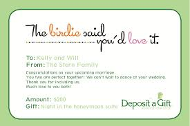 wedding registries for honeymoon printable gift certificate print after buying to put on the