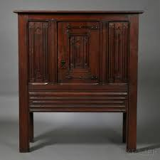 Gothic Furniture For Sale by Irving U0026 Casson A H Davenport Co Gothic Revival Oak Cabinet