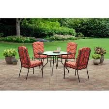 5 piece patio table and chairs mainstays ashwood heights 5 piece outdoor dining set red walmart com