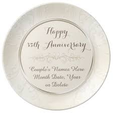 35th anniversary gifts personalized happy 35th anniversary gifts any year porcelain plate