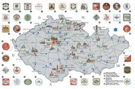 Travel Map Of Europe by Maps Of Czech Republic Detailed Map Of The Czech Republic In