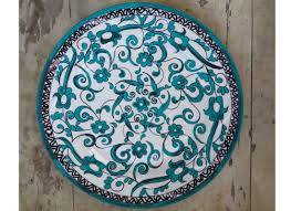 emerald green wall plate floral turkish wall art home décor online