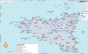 Sicily Italy Map Maps Sicily Rough Guides Snapshot Italy Includes Palermo