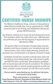 Home Evolutionary Healthcare Certified Nurse Midwife Job In York Pa Lancasteronline Com