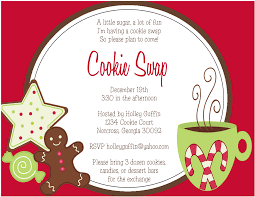 cookie exchange invitation wording lights