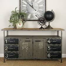 buffet sideboard cabinet storage kitchen hallway table industrial rustic industrial sideboards buffets you ll in 2021 wayfair