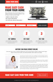 clean creative work from home lp 020 work from home landing page