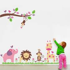 wall stickers kiddicare walplus colourful animals wall sticker collection