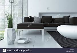 modern low coffee table modern grey and white living room interior viewed low angle over a