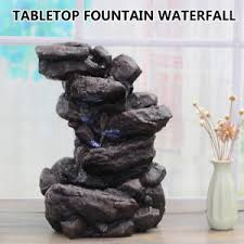 small indoor table fountains indoor water fountain tabletop waterfall led light zen decor table