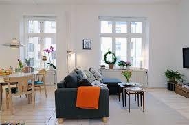 apartment design in small loft area and bright interior living