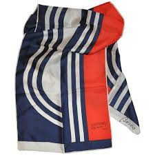 besco for raphael alta moda red white and blue rectangle scarf for