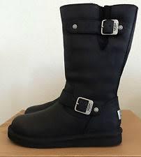 s ugg australia kensington boots womens ugg australia kensington black leather boots 5768 us size 6