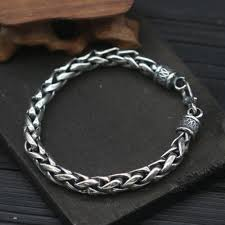 silver rope chain bracelet images Men 39 s sterling silver bold rope chain bracelet jpg