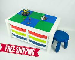 building table with storage custom tables by bricksbyjaxs on etsy