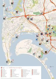 san francisco map sightseeing san diego printable tourist map sygic travel