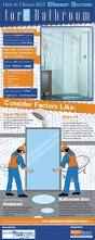 how to choose best shower screen for bathroom infographic