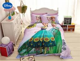 Frozen Queen Size Bedding Aliexpress Com Buy Disney Cartoon Frozen Elsa Anna Printing