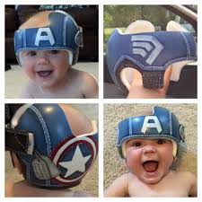 band baby captain america helmet doc band cranial bands helmets