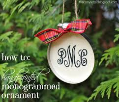 how to painted monogrammed ornaments pretty handy