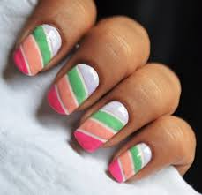 color blocking nail polish designs for beginners to do at home