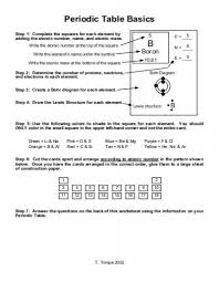 periodic table basics cards answers periodic table basics worksheet periodic table basics b the science