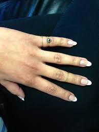 french tip almond nails french tips i used clear white and a