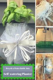 How To Make A Self Watering Planter by How To Make A Self Watering Planter From A Recycled Bottle