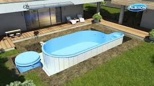 Garten Pool Aufblasbar Pool Aufbau Youtube