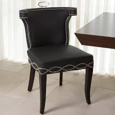 Genuine Leather Dining Room Chairs by Global Views Be Seated In Chic Comfort Casino Genuine Leather